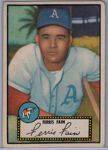 1952 Topps Baseball # 21 Ferris Fain Black Back $25.00