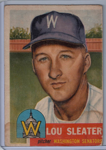 1953 Topps #224 Lou Sleater $10.00