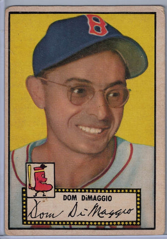1952 Topps Baseball # 22 Dom Dimaggio Black Back $30.00