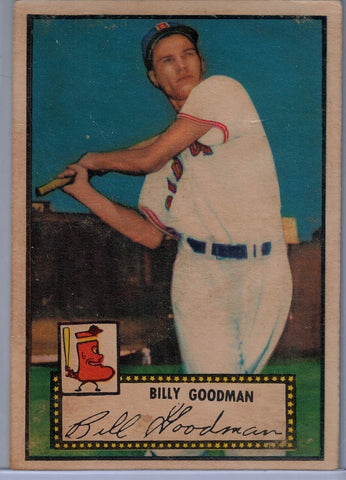 1952 Topps Baseball # 23 Billy Goodman Red Back $12.00