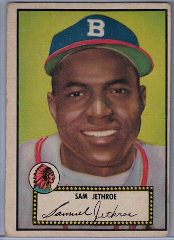 1952 Topps Baseball # 27 Sam Jethroe Black Back $12.00