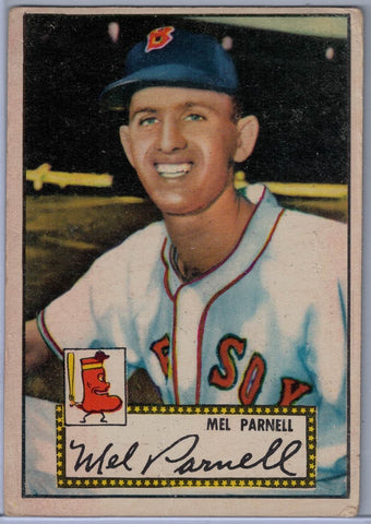 1952 Topps Baseball # 30 Mel Parnell Red Back $30.00