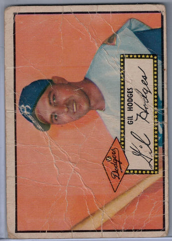 1952 Topps Baseball # 36 Gil Hodges Black Back $16.00
