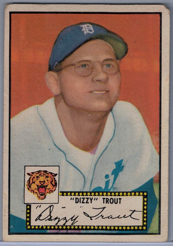 1952 Topps Baseball # 39 Dizzy Trout Black Back $20.00