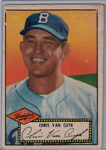 1952 Topps Baseball # 53 Chris Van Cuyk Black Back $6.00