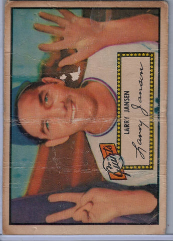 1952 Topps Baseball #  5 Larry Jansen Red Back $8.00