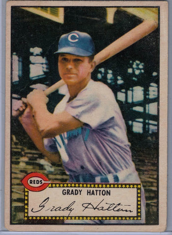 1952 Topps Baseball #  6 Grady Hatton Red Back $10.00