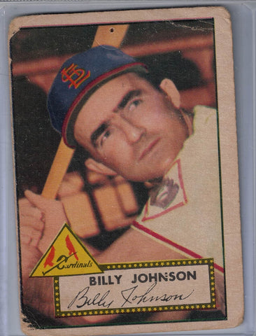 1952 Topps Baseball # 83 Billy Johnson A $6.00