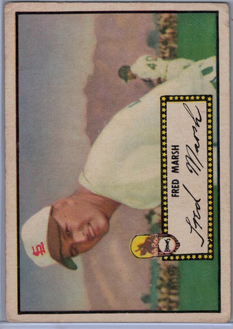 1952 Topps Baseball #  8 Fred Marsh Black Back $12.00