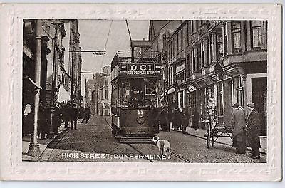 Vintage Postcard of High Street, Dunfermline Britain $10.00