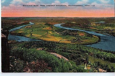 Vintage Postcard of Moccasin Bend From Lookout Mountain, Chattanooga, TN $10.00