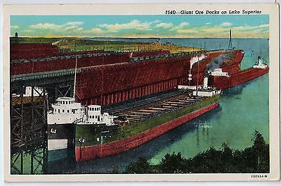 Vintage Postcard of Giant Ore Docks on Lake Superior $10.00