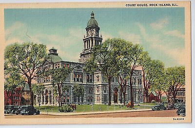 Vintage Postcard of The Court House in Rock Island, IL $10.00