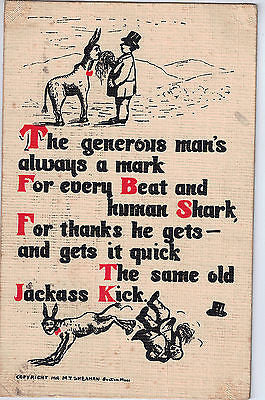 1908 Sheahan's Good Mottos Make the World Brighter Postcard $20.00