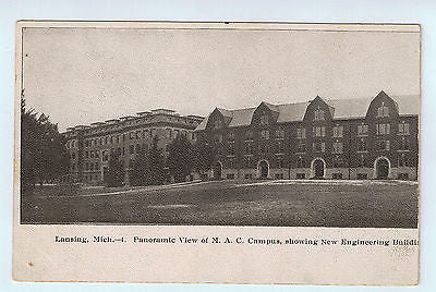 Vintage Picture Postcard of M.A.C. Campus in Lansing, MI $10.00