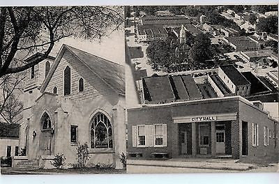 Vintage Postcard of City Hall, Court House, and Nashville Methodist Church, TN $10.00