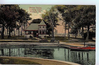 Vintage Postcard of Shelter House, Deering Oaks, Portland, ME $10.00