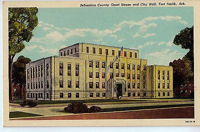 Vintage Postcard of Sebastian County Court House and City Hall, Fort Smith, AR $10.00