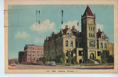 Vintage Postcard of The City Hall in Calgary, Alberta, Canada $10.00