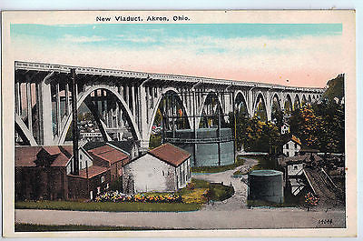 Vintage Postcard of New Viaduct, Akron, OH $10.00