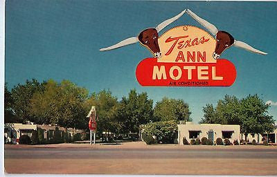 Vintage Postcard of Texas Ann Motel Albuquerque, NM $10.00