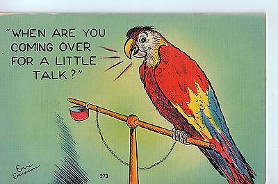 "Vintage Postcard of ""When Are You Coming Over For A Little Talk?"" $5.00"
