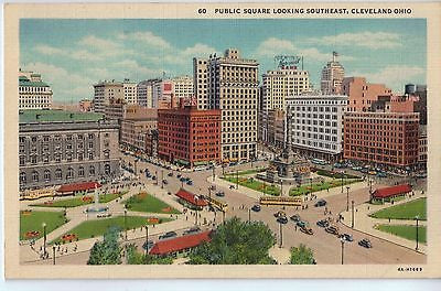 Vintage Postcard of Public Square, Cleveland, OH $10.00