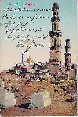Vintage Postcard of The Mameloks Tombs, Cairo Egypt $10.00