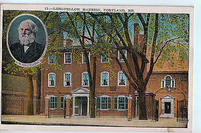 Vintage Postcard of Longfellow Mansion, Portland, ME $10.00
