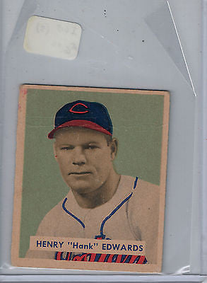 1949 Bowman # 136 Hank Edwards $6.00