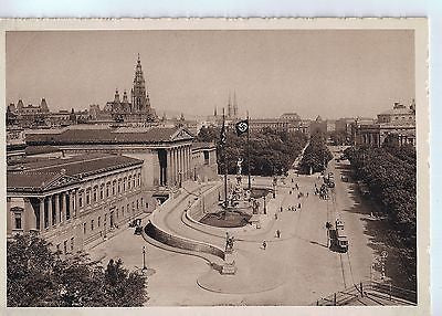 Vintage German WWII Postcard of The Ring, Vienna $20.00