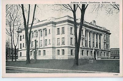 Vintage Postcard of The Sullivan County Courthouse in Sullivan, IN $10.00
