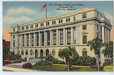 Vintage Postcard of The Orange County Court House in Orlando, FL $10.00