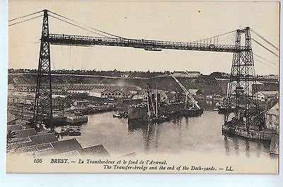 Vintage Postcard of The Transfer Bridge and The End of the Dock Yards France $10.00