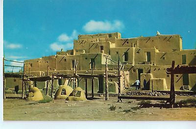 Vintage Postcard of Taos Indian Pueblo in Northern, NM $10.00