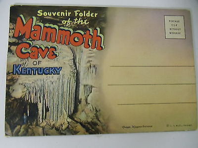 Vintage Postcard Souvenir Folder of the Mammoth Cave of Kentucky $10.00