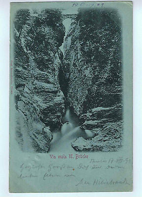 1899 Switzerland Postcard of the Via mala $15.00