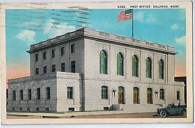 Vintage Postcard of Post Office, Billings, Mont. $10.00