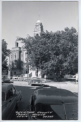 Vintage Postcard of Decatur County Court House in Leon, IA $10.00