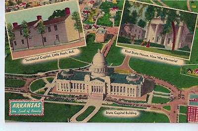 Vintage Postcard of Arkansas's First Territorial Capitol Building $10.00