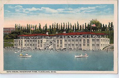 Vintage Postcard of Bath House, Edgewater Park, Cleveland, OH $10.00