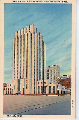 Vintage Postcard of St. Paul City Hall and Ramsey County Court House, St Paul MN $10.00