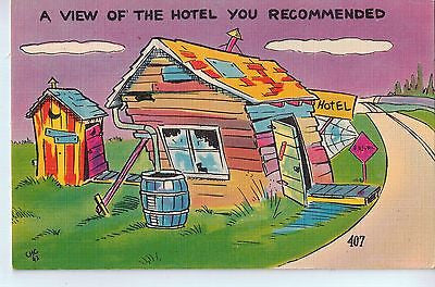 Vintage Postcard of A View of the Hotel You Recommended $10.00