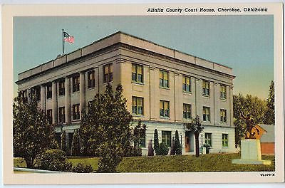 Vintage Postcard of Alfalfa County Court House, Cherokee, OK $10.00