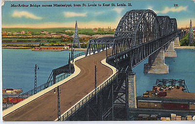 Vintage Postcard of MacArthur Bridge across Mississippi $10.00