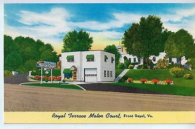 Vintage Postcard of Royal Terrace Motor Court, Front Royal, Virginia $10.00