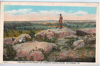 Vintage Postcard of Little Round Top, Gettysburg, PA $10.00