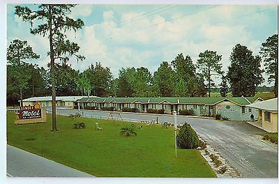 Vintage Postcard of Sunset Motel in Suwannee River Valley Greenwood, FL $10.00