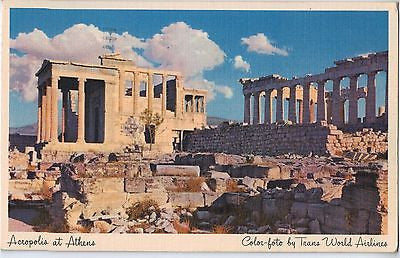 Vintage Postcard of Acropolis at Athens, Greece $10.00