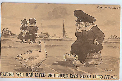 1913 Postcard of Dutch Children $20.00